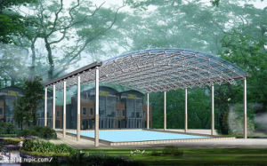 China Large Span Construction Prefab Swimming Pool Space Frame Roof ...