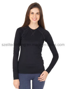 Long Sleeve Spandex T-Shirts for Women (ELTWTJ-141) pictures & photos