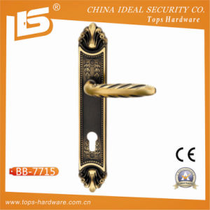 Classic Brass Door Lock Plate Handle (BB-7715) pictures & photos