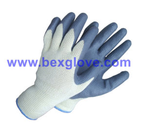 10 Gauge Polyester Liner, Nitrile Coating, Foam Finish Safety Gloves pictures & photos