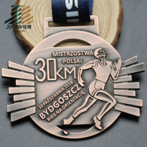 Antique Silver 30km Zinc Alloy Custom Marathon Running Medal pictures & photos