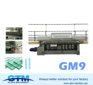 9 Spindles Glass Vertical Straight-Line Edging Machine