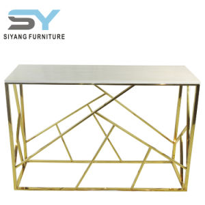 Home Furniture Stainless Steel Console Table Golden Decorative Table
