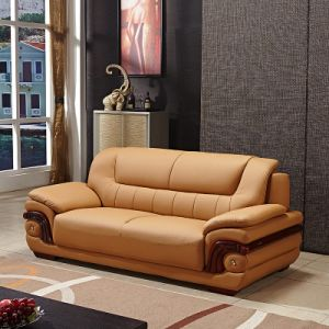 China Nordic Small Sized Leather Sofa