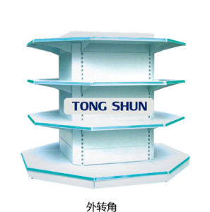 Plastic Coating Metal Round Style/Four Column Style Supermarket Shelf pictures & photos