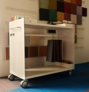 Uispair 100% Steel Tow-Layers Kitchen Hospital Bedroom Meeting Room Furniture for Storage