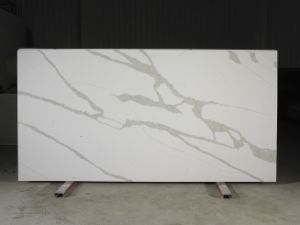Kimria Greenguard Certificated Calacatta Non Porous Surfaces Quartz Stone