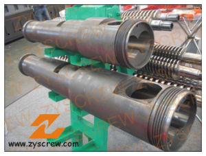 Twin Conical Screw Barrel Double Screw Barrel PVC Profile Pipe Extrusion pictures & photos