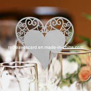Red Leaves Laser Cutting Wedding Place Card Grey (Color Can Be Customized)