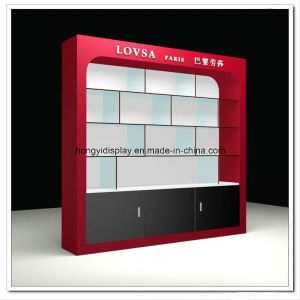 Display Cabinet and Slatwall with Red Color Painting pictures & photos