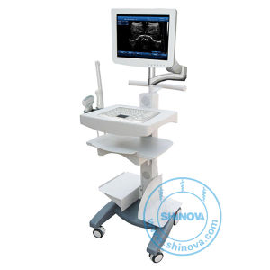Touch Screen Trolley Ultrasound Diagnosis Scanner (Win 100) pictures & photos