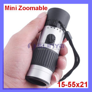 Compact Pocket-Sized 15-55X Mini Zoomable Monocular Telescope pictures & photos