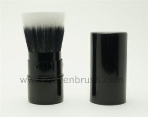 Custom Logo Makeup Powder Brush Metal Cosmetic Retractable Brush