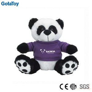 Competitive Price Factory Custom Plush Panda Bear with Cotton Shirt