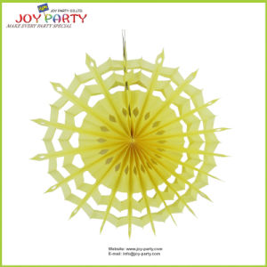 Yellow Honeycomb Snowflake Paper Fans