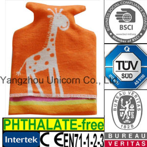 CE Fleece Fabric Hot Water Bottle Cover Giraffe