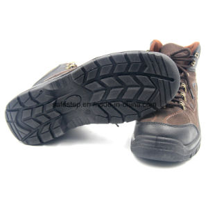 PU Injection Suede Leather High Quality Safety Shoes pictures & photos