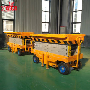 11m 300kg Towable Mobile Scissor Lift pictures & photos