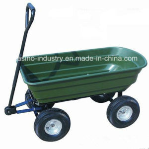 Heavy-Duty Garden Trailer, Utility Dumping Tool Cart (TC2145) pictures & photos