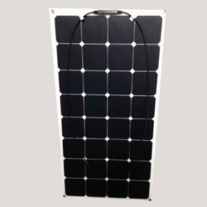 Thin Film Sunpower Cells 100watt Semi Flexible Solar Panel 18V
