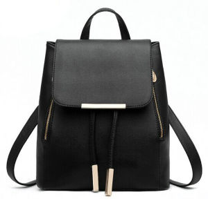 01d3262fb8 China Custom Black PU Girls Leather Backpack Bags Womens Leather Backpack -  China Leather Backpack
