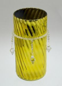 Shine Yellow Glass Vase pictures & photos