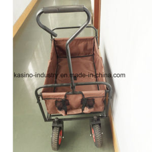 Europe Salable Waterproof Oxford Cloth Foldable Beach or Shopping Wagon Cart pictures & photos