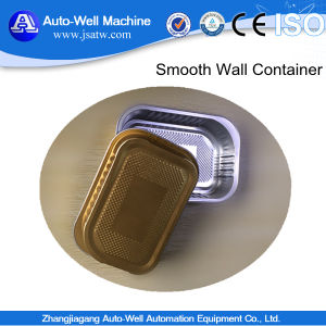 Disposable Smooth Wall Aluminium Foil Tray with Cap pictures & photos