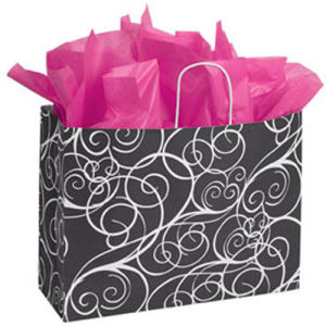 Large Elegant Swirl Paper Shopper pictures & photos