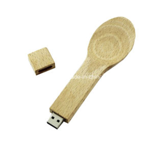 Wood Spoon USB Flash Drive Memory Disk 64GB Pendrive pictures & photos