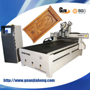 1300X2500, Vacuum Table, Three Workstage Atc CNC Router pictures & photos