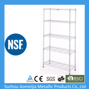 Chorm Plate Metal 5-Tier Stationery Wire Shelving Rack