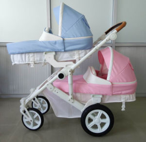 New Design Luxury Fold Baby Twin Stroller with Ce Certificate