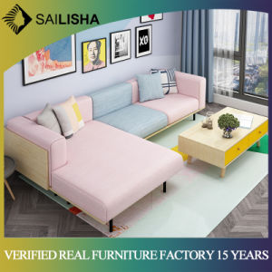 European Nordic Corner L Shape Fabric Sofa Modern Contemporary Style Living  Room Furniture Sofa
