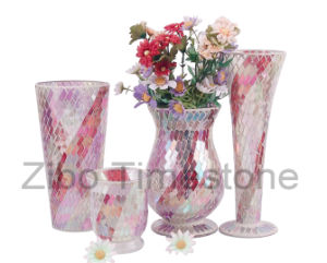 Mosaic Glass Candle Holders & Vases (TM1800) pictures & photos