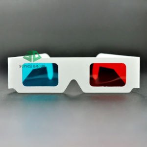 Accept Small Order, No Printing Paper Cyan Red 3D Glasses (SN3D 035)