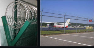 Galvanized and PVC Coated Airport Fence