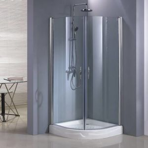 Tempered Glass Hinged Quadrant Shower Room (HE229Q) (EN-14428 Approved)