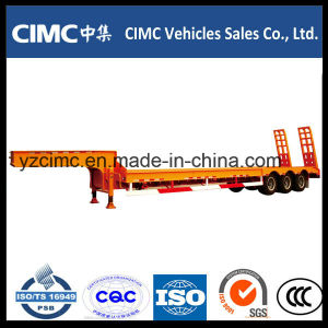 Cimc 3 Axle 50 Tons Low Bed Trailer Best Quality pictures & photos