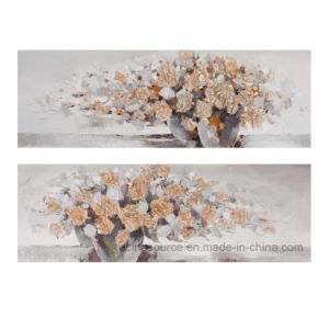 Modern 100% Hand-Painted Blossom Oil Canvas Painting pictures & photos