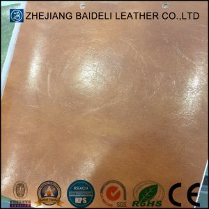 Synthetic Microfiber Leather Backing Color Same as Surface for Furniture Upholstery pictures & photos