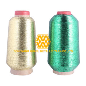 Mx Type Gold and Green Color Metallic Yarn