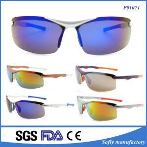 Fashion Cool Men Polarized Sport Sunglasses with Gold Silver Frame pictures & photos
