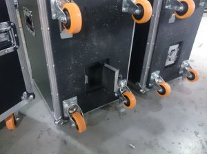 Speaker Rack with Wheels and Back Door