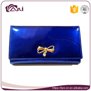 New Arrival Elegance Blue Genuine Leather Lady Mighty Wallet pictures & photos