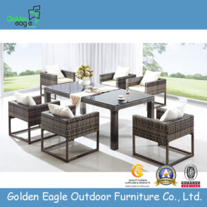 Royal Garden Patio Outdoor Rattan Dining Table Set