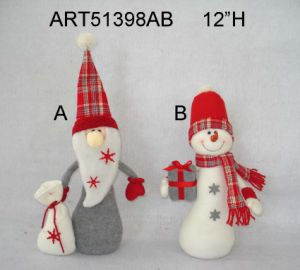 Snowman and Santa Christmas Decoration Gift Craft-2asst pictures & photos