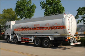 340PS 8X4 30-40m3; Powder Tanker Truck with Tubeless Tire