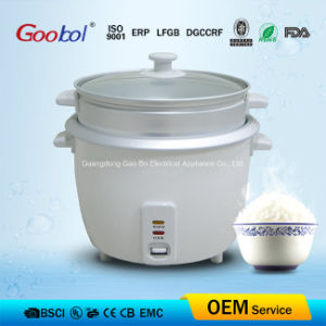 Stable Drum Rice Cooker Mechanical Control Glass Lid and Useful Steamer pictures & photos