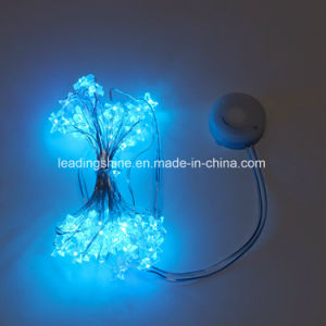 aa battery operated ice blue led light holiday outdoor christmas tree decoration fairy light